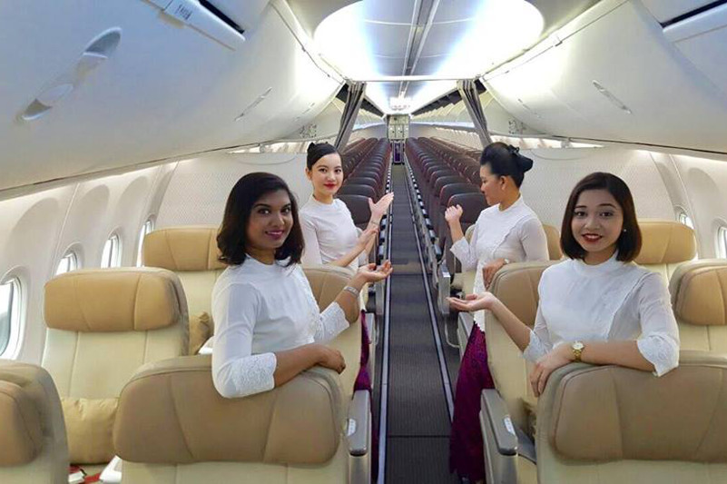 Malindo Air plane interior.