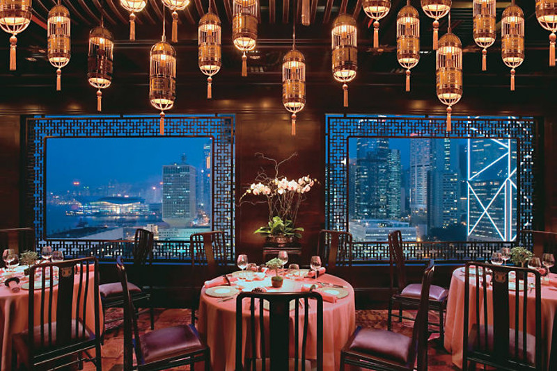 Man Wah restaurant at Mandarin Oriental Hong Kong.