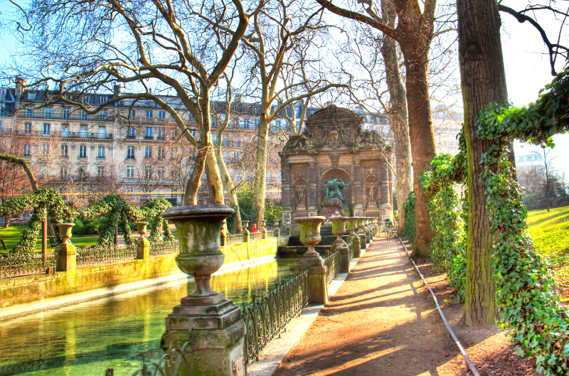 Medici Fountain in the Luxembourg Gardens, Paris.
