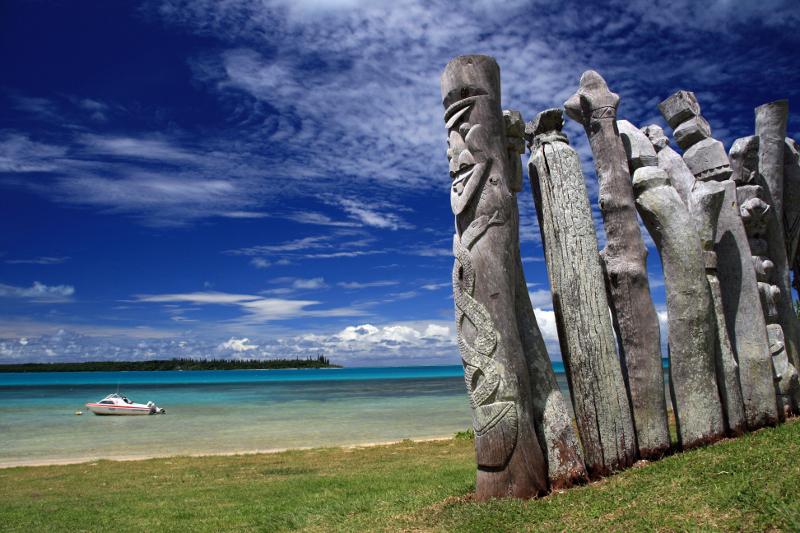 New Caledonia totem poles