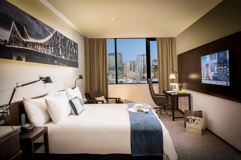 Superior Queen suite at Next Hotel Brisbane.