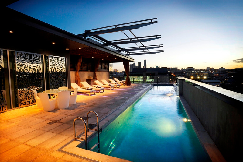 The Emporium Hotel rooftop pool