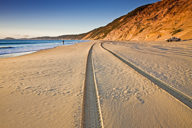 Rainbow Beach in Queensland.