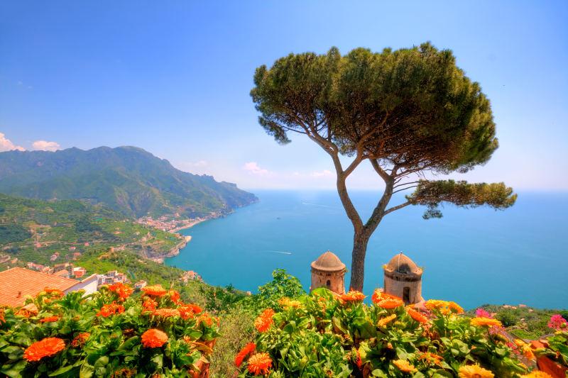 Amalfi Coast view from Ravello.
