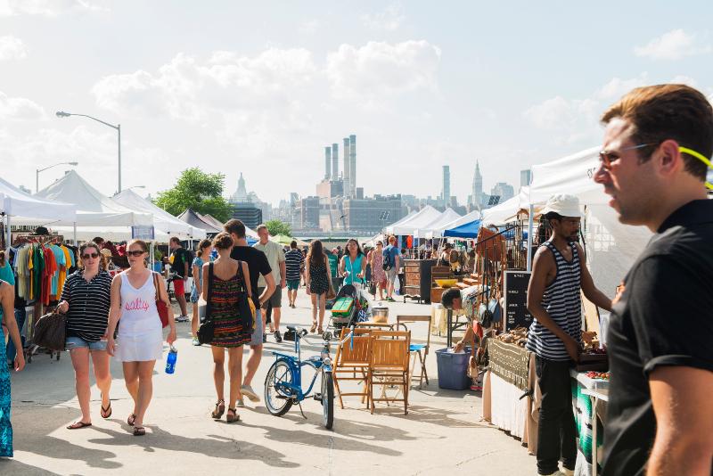 Brooklyn flea market.