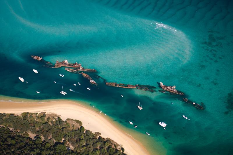 Tangalooma Wrecks at Moreton Island.