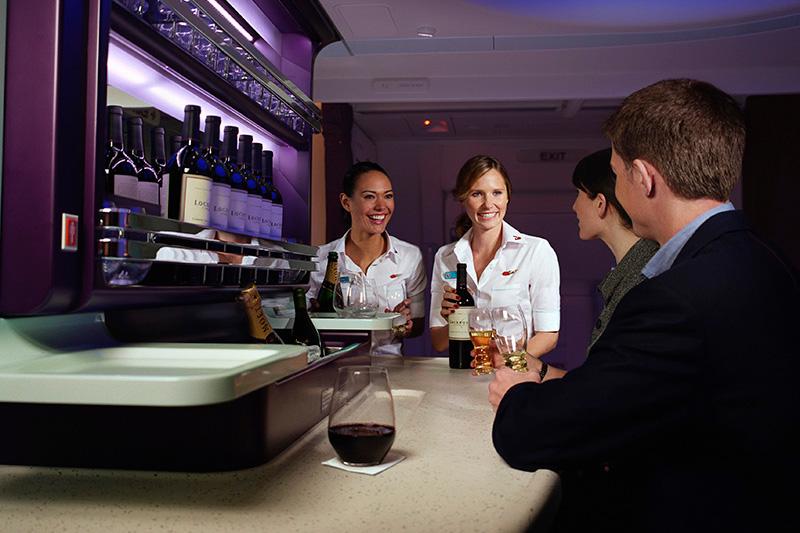 Virgin Australia's inflight Business Bar .