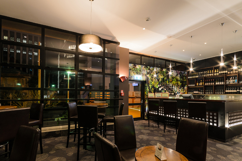The bar at Thorndon Wellington by Rydges.