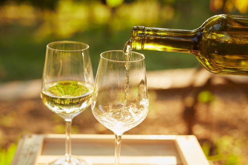 White wine, Rhine, Germany