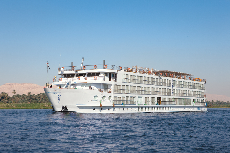Uniworld River Tosca ship on the Nile River in Egypt.