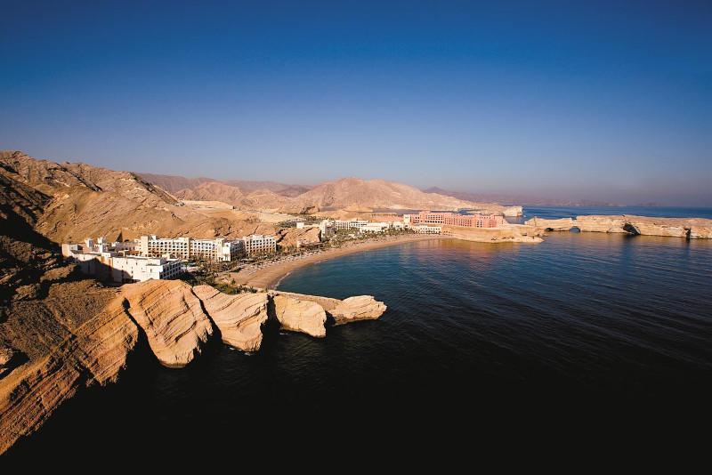 Aerial view of Shangri-La Barr Al Jissah Resort and Spa.