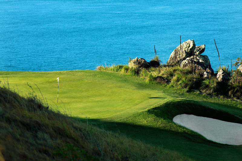 A golf green at Hamilton Island Golf Club.