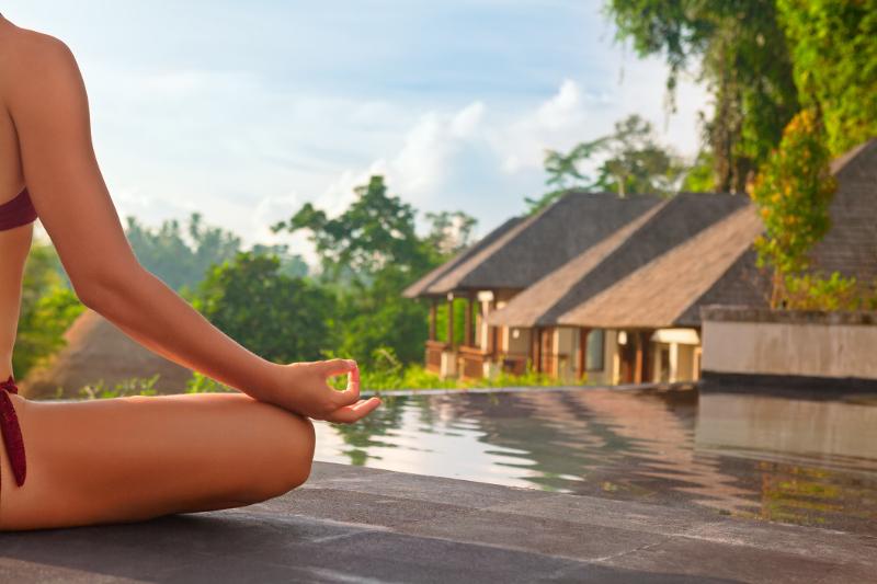 Zen Capital Of Bali: Meditating Over Pool In Ubud
