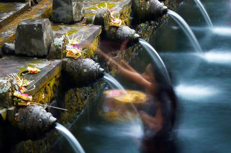 Zen Capital of Bali: Rituals At Water Spring In Tirta Empul.