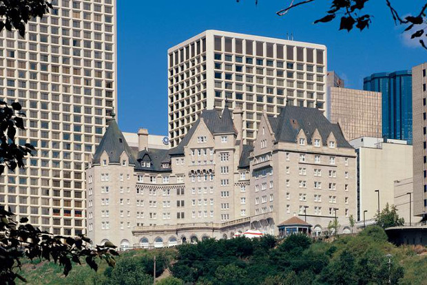 The Edmonton Fairmont Macdonald hotel adds charm to the Canadian city's skyline.
