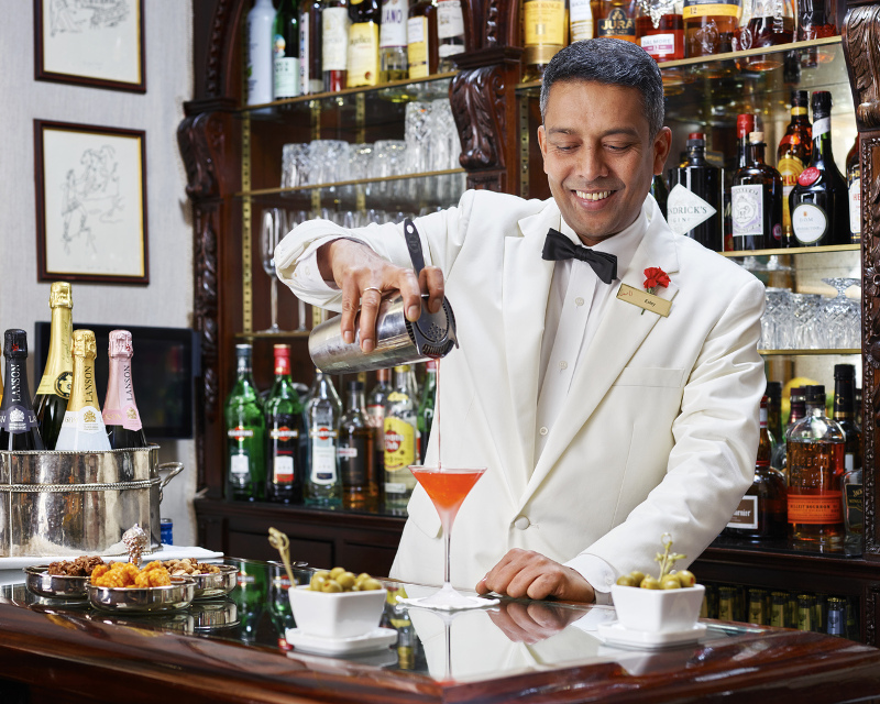 The infamous Esley of the Egerton Bar. Photo courtesy of Red Carnation Hotels