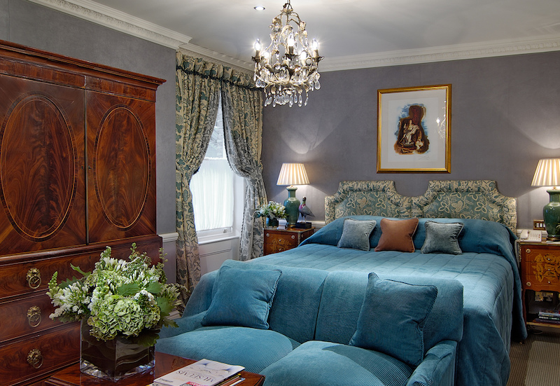 A charming guest room at Egerton House. Photo courtesy of Red Carnation Hotels