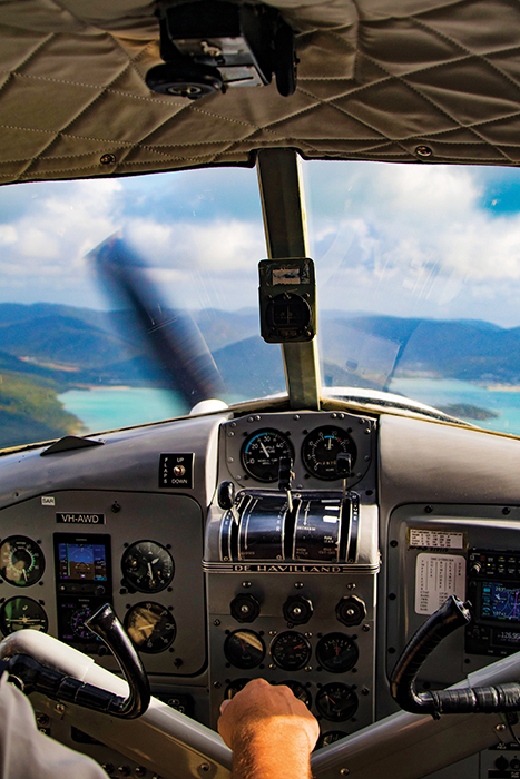 scenic helicopter flight over the whitsundays