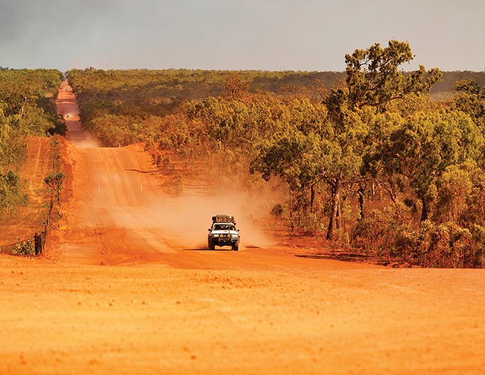 inland red dirt roads of far north queensland