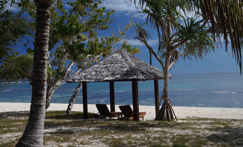 sun loungers on eratap beach vanuatu