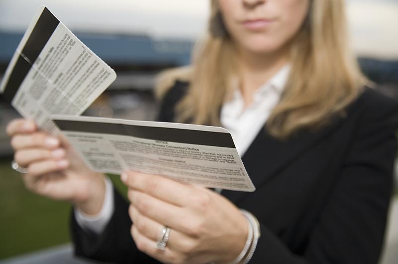 boarding passes at airport