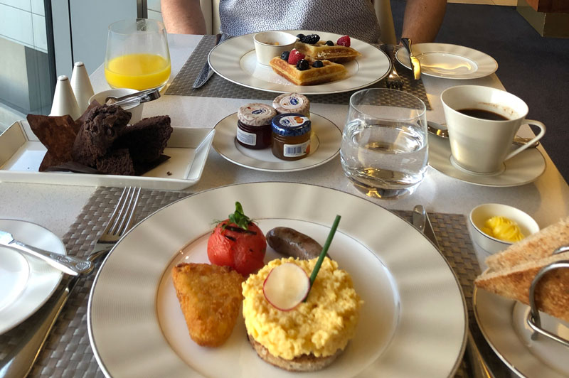 An example of the breakfasts available from your dedicated chef in Etihad First.