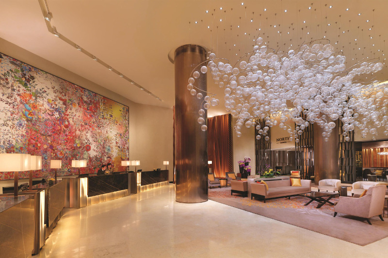 Lobby of Fairmont Hotel Singapore