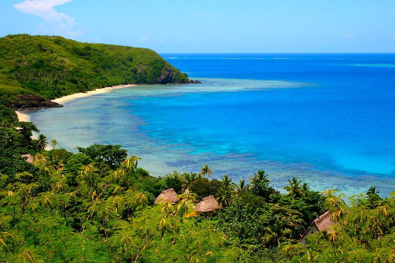 A beach one one of the outer Yawawa Islands in Fiji