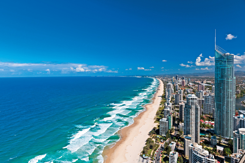 Surfers Paradise at the Gold Coast