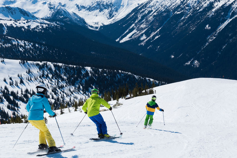 A family ski holiday in Whistler, British Columbia, Canada