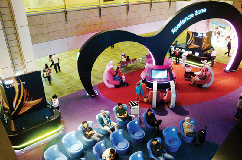 Entertainment zone at Singapore Changi Airport