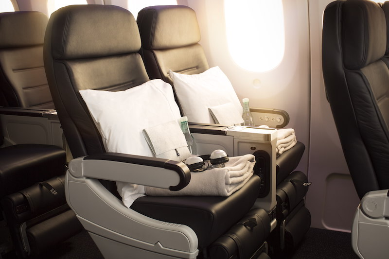 Air New Zealand's premium economy seats