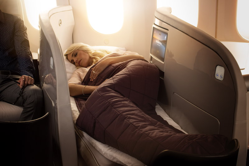 Air New Zealand's luxury 'lie-flat' bed, the most comfortable in the sky