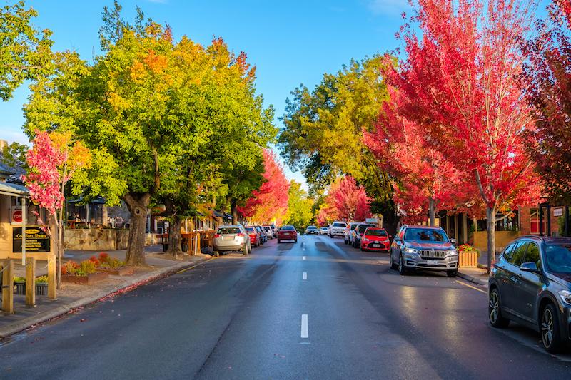 Hahndorf south australia in autumn