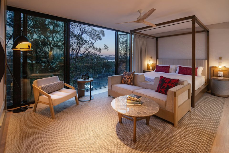 Room at Wildlife Retreat at Taronga  that over looks wildlife areas