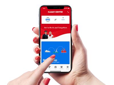 flight centre app screen