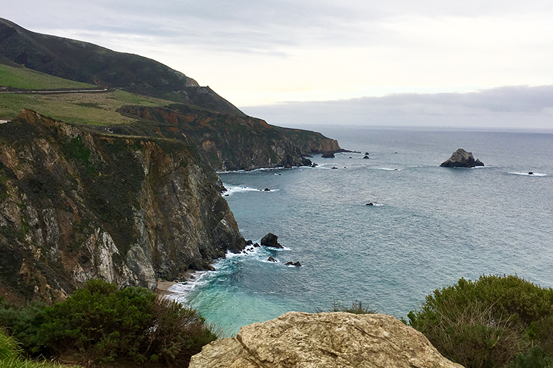View of Big Sur, California