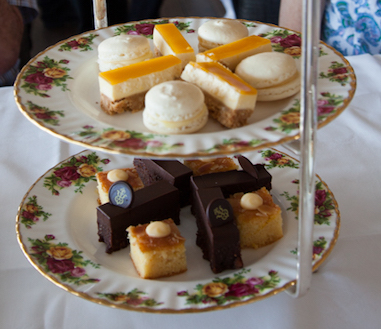 A plate of high tea food from Gunner's Barracks