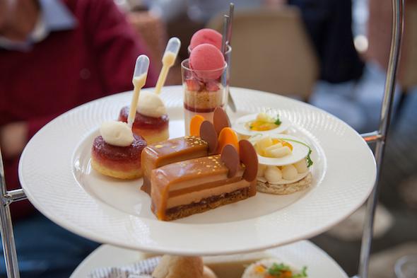 A plate of modern treats at the Shangri-La high tea