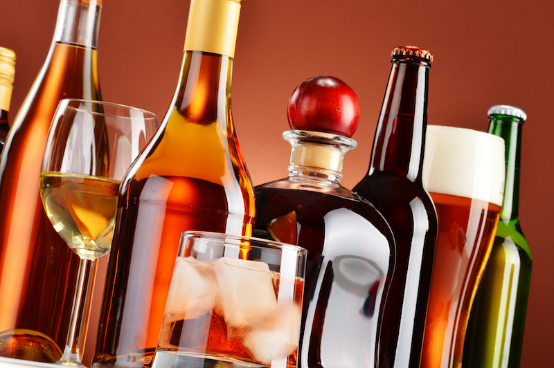 beer, wine and spirits