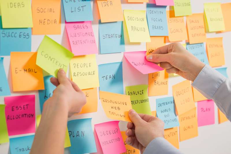 goal planning post-its