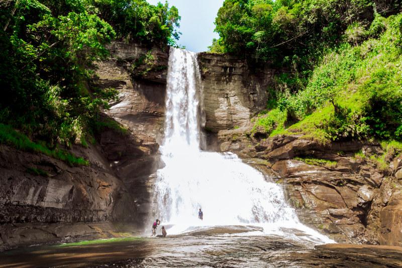 A waterfall on the Navua River