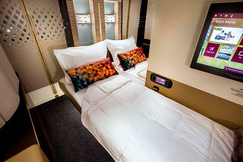 First Class Bed on Etihad Airways