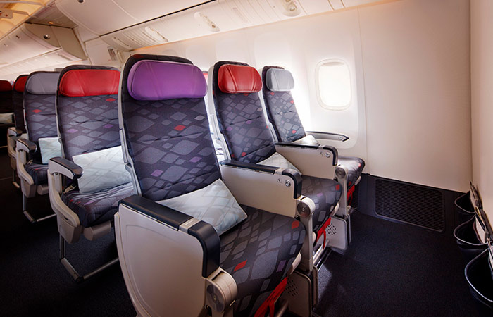 Economy Class seats on VA B777 aircraft