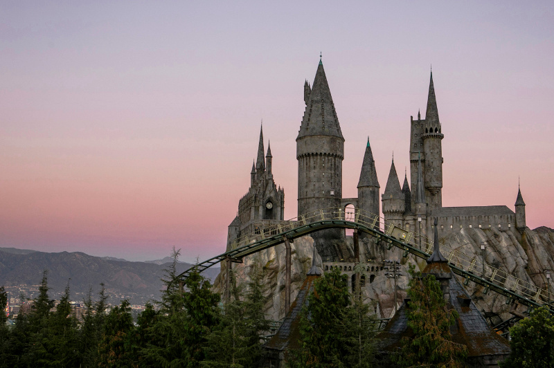 Flight of the Hippogriff rollercoaster ride at Universal Studios Hollywood
