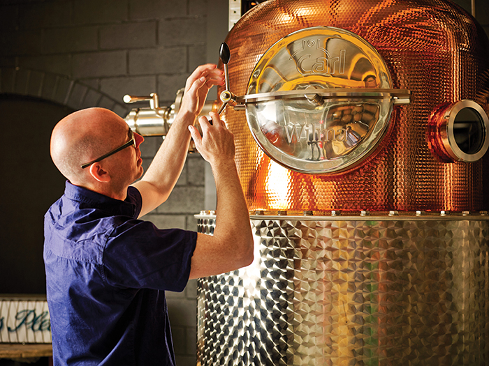Each batch of Four Pillars Gin takes around seven hours to distill.