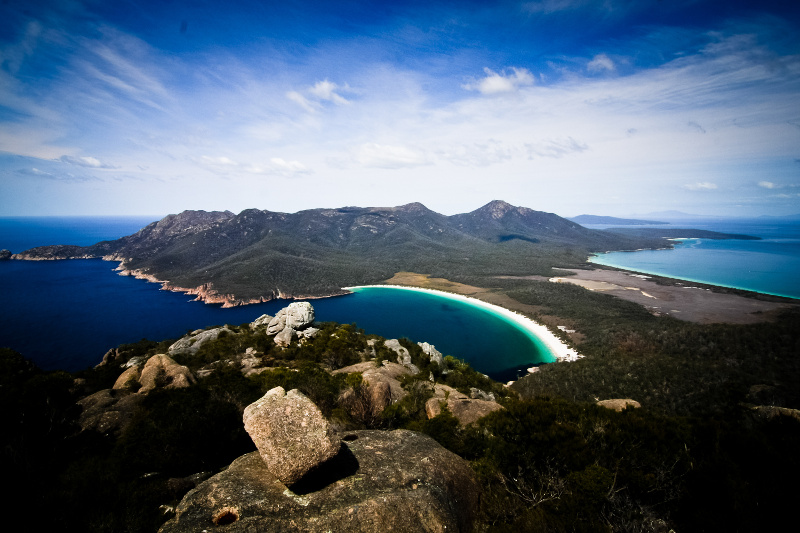 Aerial view of Wineglass Bay
