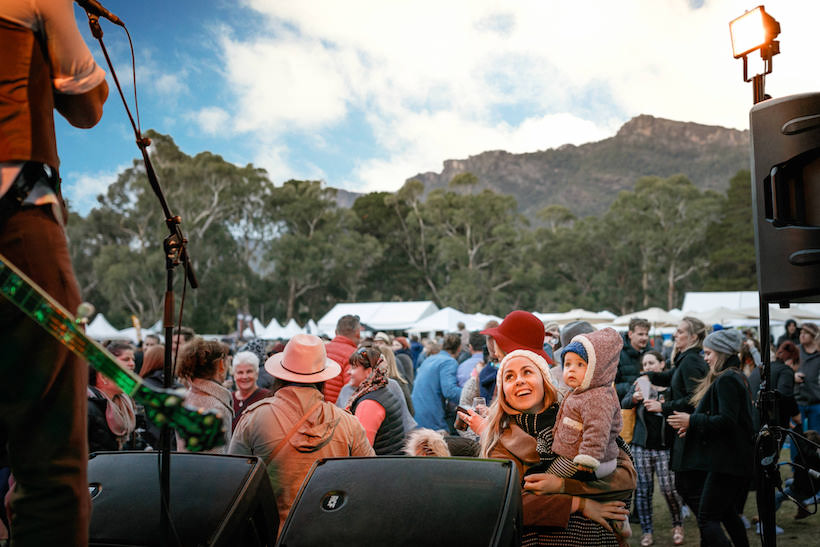 Live music and entertainment is aplenty during the Grampians Grape Escape. Photo: Courtesy.