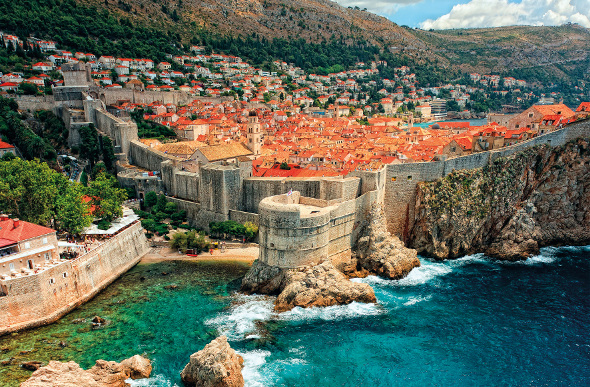 The city of Dubrovnik in Croatia