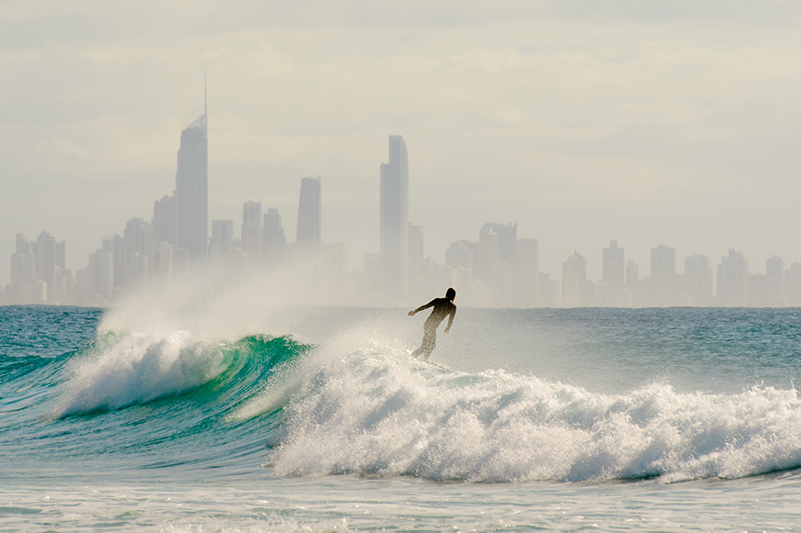Surfer in Surfers Paradise
